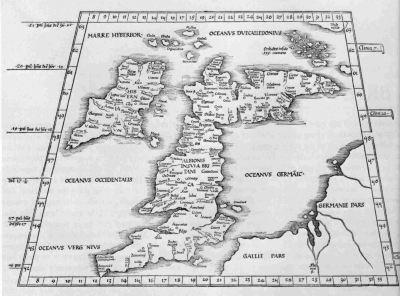Map Of Uk 1500.A Short History Of English Maps